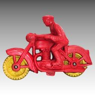 Auburn Model A-520 Motorcycle Cop Toy - 1953