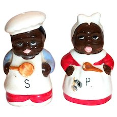 Black Americana: Chef & Mammy Porcelain Salt & Pepper Shakers