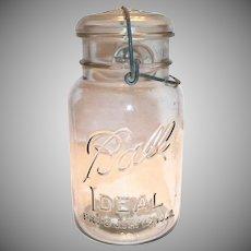 Ball Ideal Mason Jar With Glass Lid & Bale