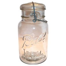 Ball Ideal Mason Jar With Glass Lid & Bale