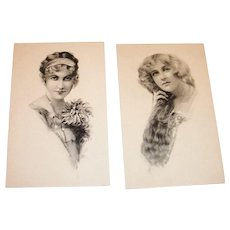 Schlesinger Bros. Bros. Early 1900's Victorian Girls Postcards
