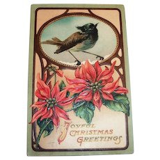 Joyful Christmas Greetings Postcard - 1910