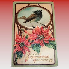 Joyful Christmas Greetings Postcard - 1910