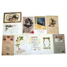 10 Vintage Christmas Postcards