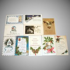 10 Vintage Christmas Postcards