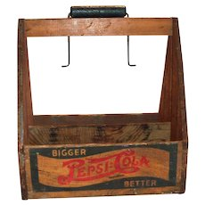 Pepsi-Cola Wooden Bottle Carrier