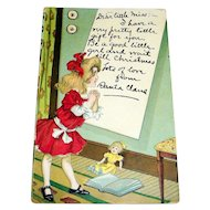 Christmas Letter From Santa Claus Postcard