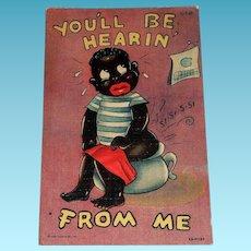 Curteich: Black Americana, You'll Be Hearin' From Me Postcard