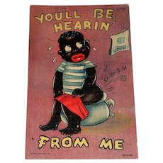 Curteich: Black Americana, You'll Be Hearin' From Me Postcard