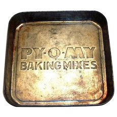 PY-O-MY Baking Mixes Advertising Tin
