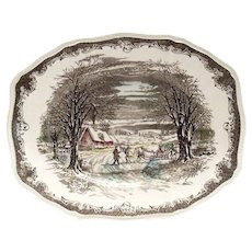 "Shakespeare's Sonnets 11 3/4""L Anne Hathaways Cottage Platter"