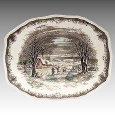 "Shakespeare's Sonnets 11 3/4""L Anne Hathaways Cottage Platter"