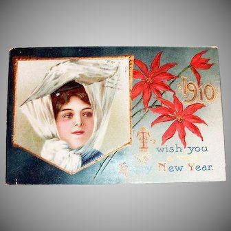 To Wish You A Very Happy New Year Postcard