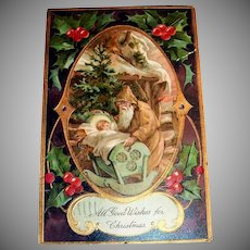 PFB: All Good Wishes For Christmas Postcard - Santa Claus