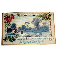 A Happy New Year Postcard - 1912