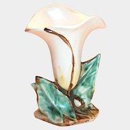 McCoy Pottery White Lily Vase