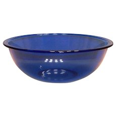 Pyrex Smaller Transparent Blue Pyrex Bowl #325