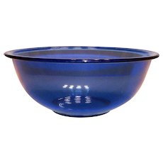 Pyrex Transparent Larger Cobalt Blue Mixing Bowl #328