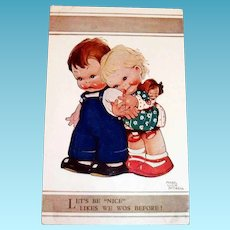 """Let's Be """"Nice"""" Likes We Wos Before! Postcard - Attwell"""