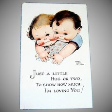 Just A Little Hug or Two Postcard - Attwell