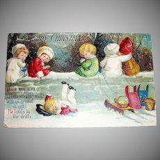 Merry Christmas Postcard - Clapsaddle, 1917