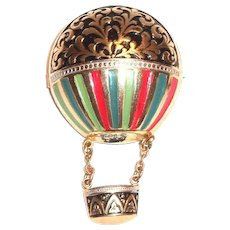 Darling Hot Air Balloon Pin - Marked