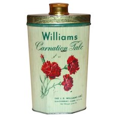 Williams Carnation Talc Powder Tin