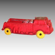 Auburn A.F.D.3 Red Rubber Fire Truck - #614