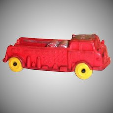 Auburn A.F.D.3 Red Rubber Fire Truck - #614