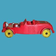 Auburn #8 Red Race Car Toy