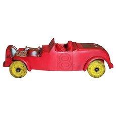 Auburn #8 Red Race Car Toy