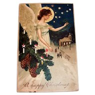 Hold To Light: A Happy Christmas Postcard - 1912
