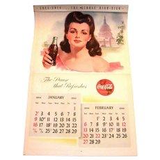 Coca Cola 1944 Calendar