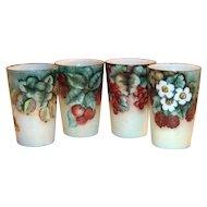 Bavaria Hand Painted Fruit Design Porcelain China Drinking Glass