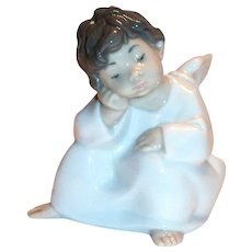 Lladro Sleepy Little Angel Figurine - Marked