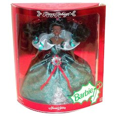 Happy Holidays Barbie Special Edition - Black Americana Doll - 1995
