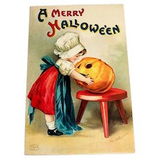 Int'l Art Publishing Co.: A Merry Hallowe'en Postcard - Clapsaddle