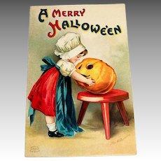 Int'l Art Publishing Co.: A Merry Hallowe'en Postcard - Clapsaddle