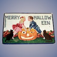 Int'l Art Publ. Co.: Merry Hallowe'en Postcard - 1908