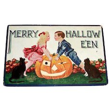 Int'l Art Publ. Co.: Merry Hallowe'en Postcard - 1908