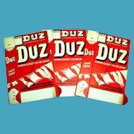 Vintage Duz Detergent Unused Sample Cardboard Box
