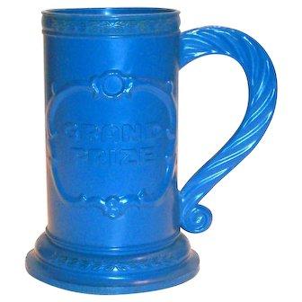 1960's Grand Prize Blue Plastic Stein