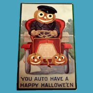 International Art Publishing: You Auto Have A Happy Hallowe'en Postcard - 1908