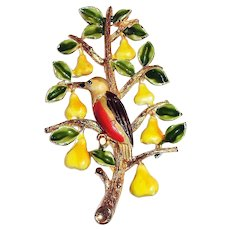 Cadora: Partridge In A Pear Tree Christmas Tree Pin
