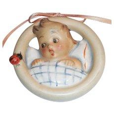 M. J.Hummel Child In Bed Wall Plague - 137/B