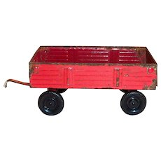 Ertl Toy Red Metal Hay Wagon/Hauler