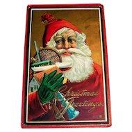 Christmas Greetings Postcard (Santa & Toys)