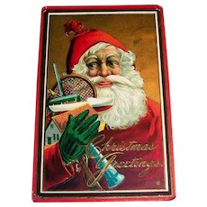 Christmas Greetings Postcard (Santa & Toys)