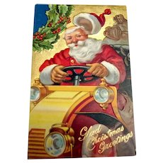 Glad Christmas Greetings Postcard - Santa Claus