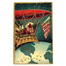 X-Mas Greetings Postcard - Santa Claus
